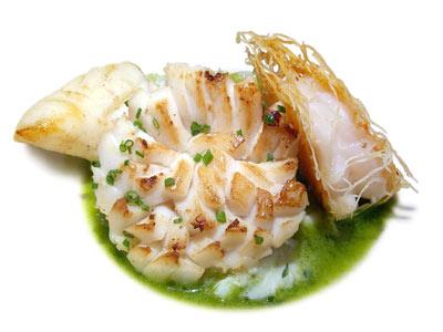 Bouillon d'océan avec crevettes, calamars, coquilles St.-Jacques et crabe (2002)