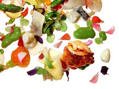 Salade tiède de moelles de légumes (2002)