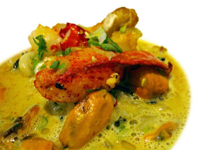 Bogavante con sopa de moluscos al aceite de lima (2003)