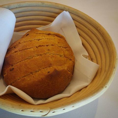 Pan artesano de pimiento a la brasa con harinas ecológicas