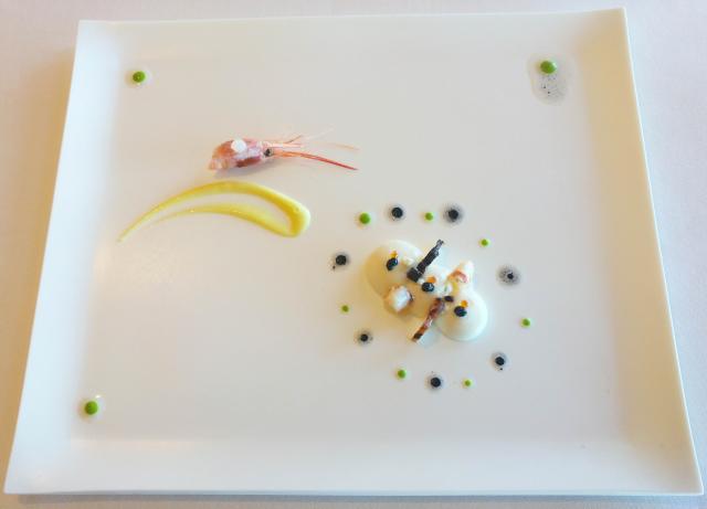 Coliflor, 'polp sec', quisquilla, cidro y aceite de oliva