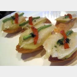 Bacalao con patata confitada