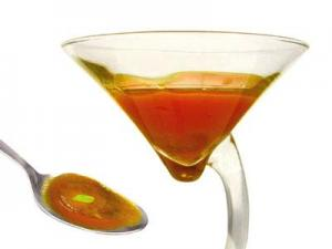 Olive oil cocktail with cold tomato soup and pepper (2005)