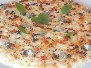 Risotto Con Burrata y Aromas Mediterráneos.