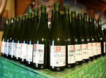 Sidra natural con Eusko Label
