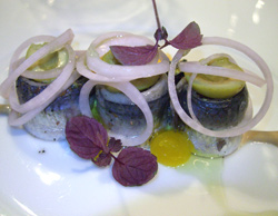 Sardinas marinadas a la Mimolette